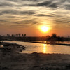 Sunset in Al Qaim, Iraq.  I loved this picture because even while serving duty in Iraq, all you had to do was look around to see God's beauty.